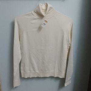 Talbot's cream turtleneck sweater